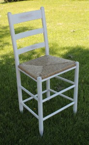 Cottage Ladderback Stool. Counter or Bar Height.