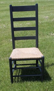 Cottage Ladder Back. Also available with a wood seat.