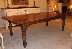 Rustic New Pine Harvest Table with 4.5