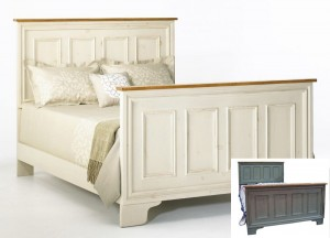 "Queen Panelled Bed - 65"" wide x 55"" tall (headboard) x 80""long"