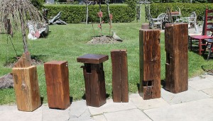 Vintage Log Ends. Makes great stools, end tables & plant stands.