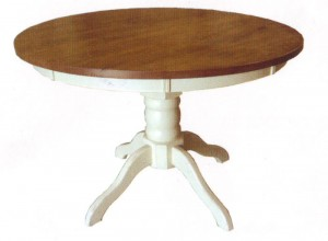 Round Pedestal Extension Table 48""