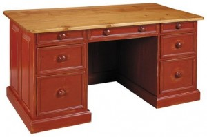 "Pine Executive Desk - 60"" wide x 30"" deep x 31"" high"
