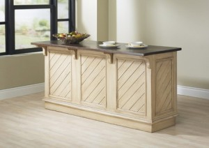 "76"" Kitchen Island; 3 horizontal drawers - 76"" long x 29"" deep (includes 8"" overhang) x 36 Inches high"