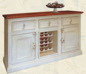 "Wine Console; maximum (top) dimensions: 62 1/2"" w x 19 1/2"" d x 36"" h"