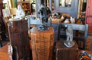 Vintage Log Ends & Hand Carved Soapstones