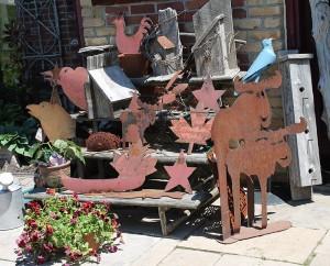 Recycled Wood & Metal Art