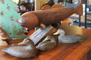 Hand Carved Ducks & Fish by Local Artists